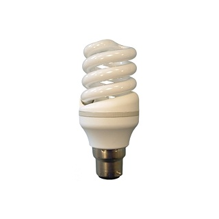 Spiral Compact White Light Bulb