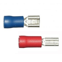 Female Spade End Crimps, 6.3mm
