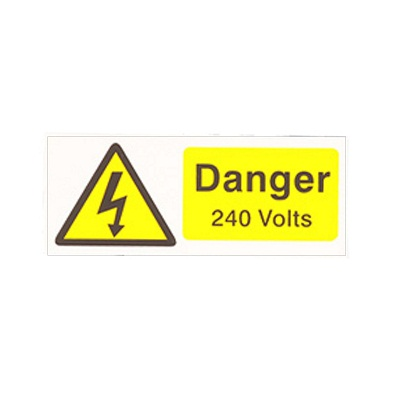 Rectangular Voltage Warning Labels