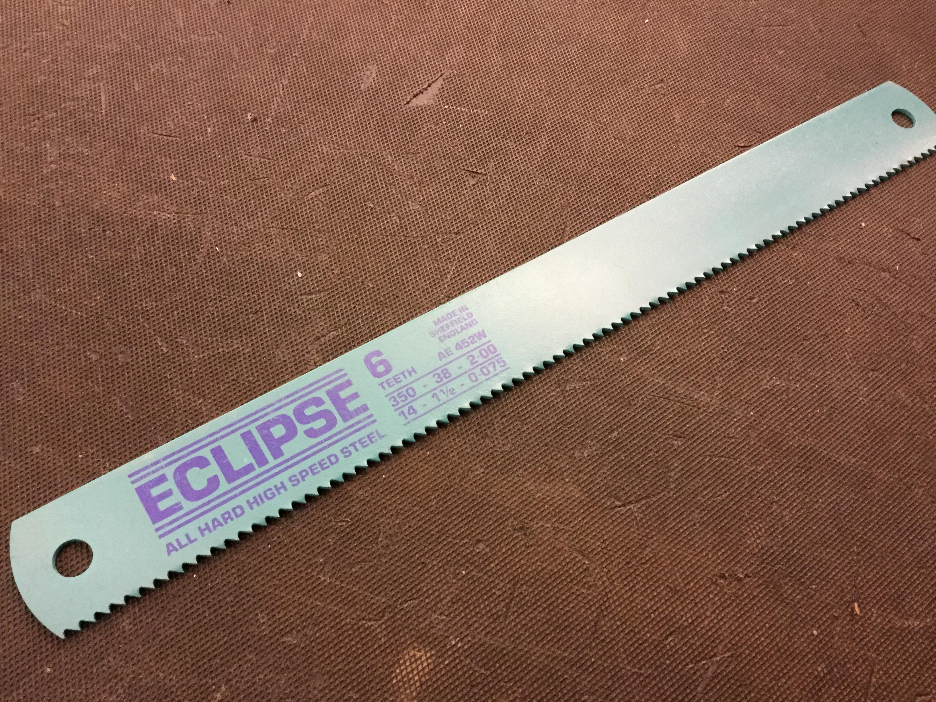"14"" X 1.1/2"" X 6 TPI HSS MACHINE SAW BLADE"