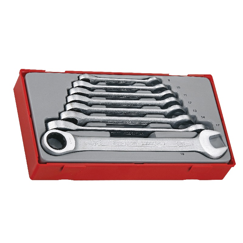 TENG 8 PIECE RATCHETING COMBINATION SPANNER SET STRAIGHT TT6508RS