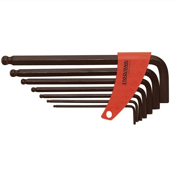 TENG 7-PIECE METRIC BALL POINT HEX KEY SET 2.5-10mm