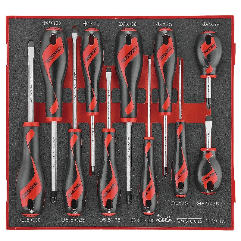 TENG SCREWDRIVER SET - 11 PIECES TED911N