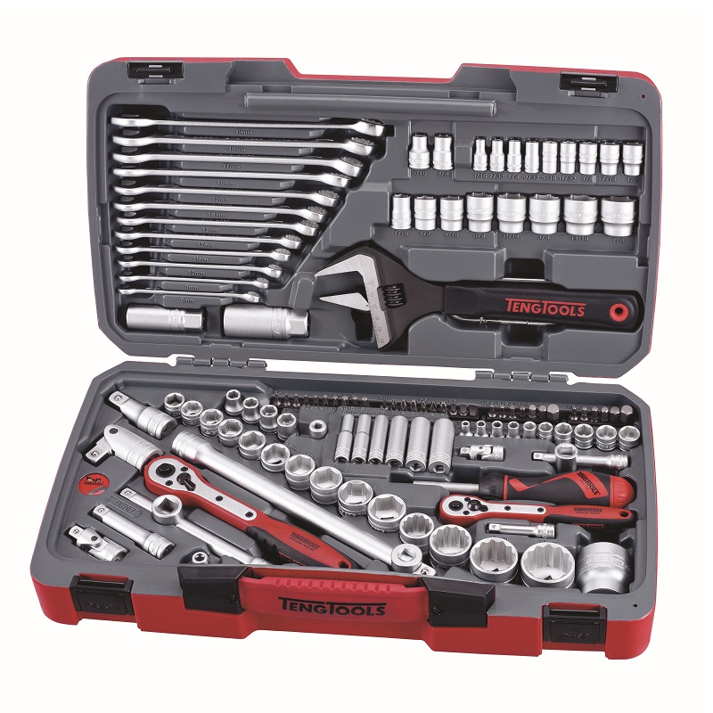 "Teng 127 Pce 1/4"",3/8"" & 1/2"" Drive Socket And Tool Set TM127"