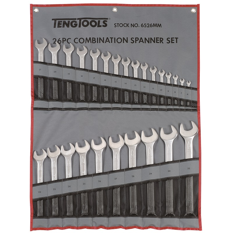 TENG 26 PIECE METRIC COMBINATION SPANNER S 6MM - 32MM  6526MM