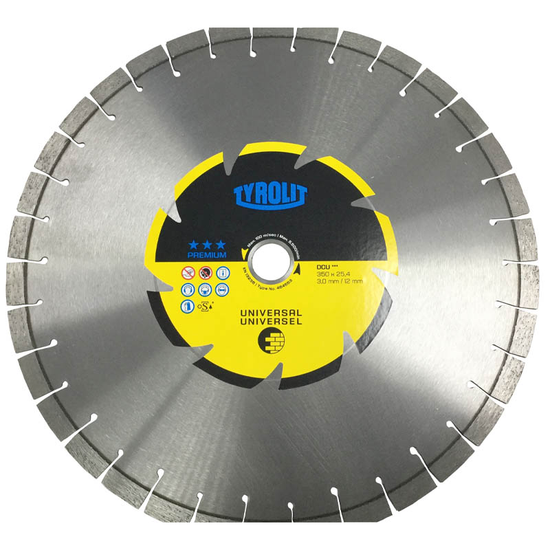 Tyrolit 350mm X 25.4mm Bore Dcu Diamond Blade 464553