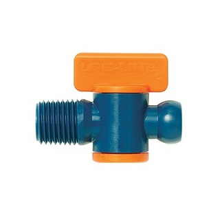Loc-Line 21192 1/4 Male Valve Sold As A Pack Of 2