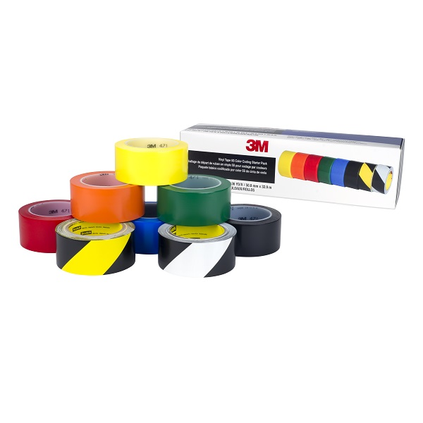 3m Vinyl Tape 5s Colour Coding Starter PK PK Of 8 7100123108
