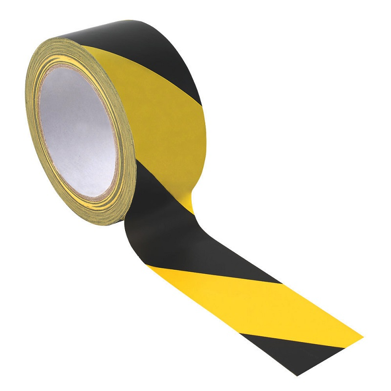 YELLOW/BLACK HAZARD TAPE 50MM X 33M