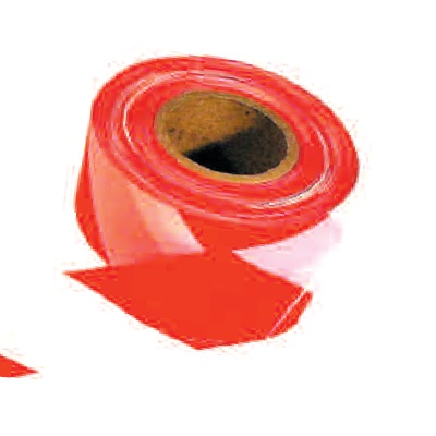 RED/WHITE HAZARD TAPE 50MM X 33M