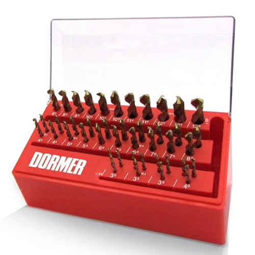DORMER A002 DRILLBOY 43PC SET 3-13MMX0.5MM PLUS 3.3MM, 4.2MM, 6.8MM 10.2MM A099/DRILLBOY