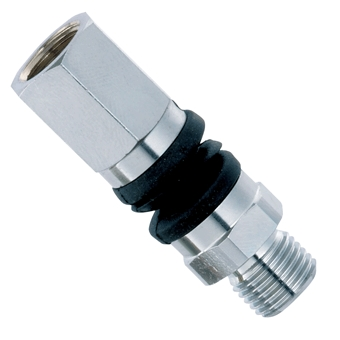 "PCL FE101S FLEXIBLE CONNECTION 1/4"" BSP FEMALE TO MALE"
