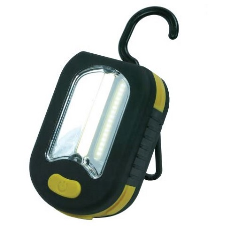 Led Torch c/w Hook And Magnet Dimensions 93 X 60 X 34mm c/w 3 X Aaa Batteries