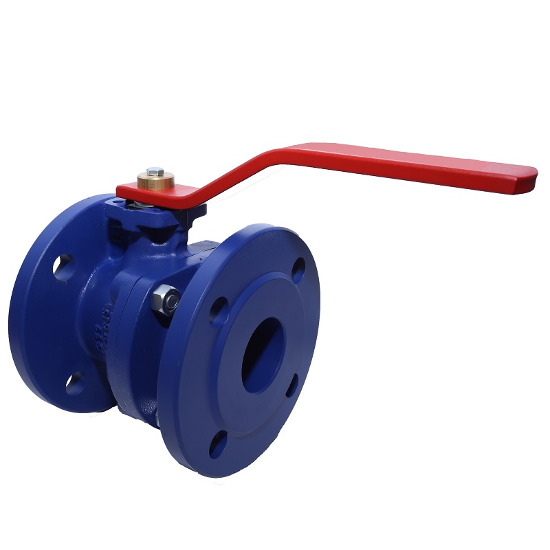 80MM NP16 FWB279 DUCTILE IRON BALL VALVE FLANGED WITH RED LOCKABLE HANDLE VITON SEALS 16BAR RATED