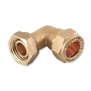 "15MM X 1/2"" COMPRESSION BENT TAP CONNECTOR FEMALE"