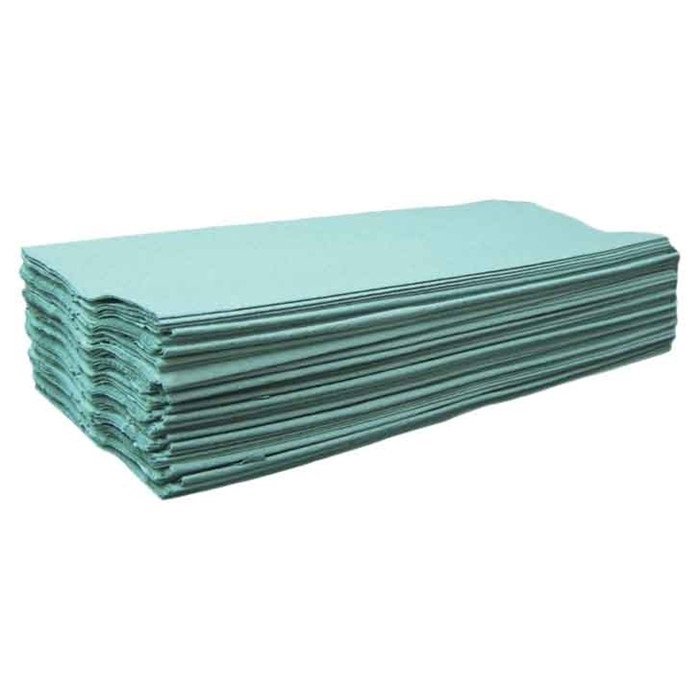 CENTREFOLD GREEN 1 PLY PAPER TOWELS - 2400 SHEETS