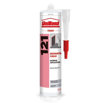 UNIBOND 121 ACRYLIC CAULK WHITE - 300ML