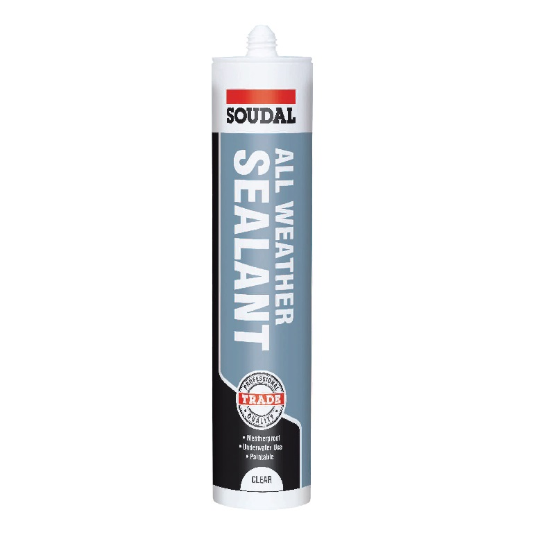 SOUDAL CLEAR ALL-WEATHER SEALANT - 250ML