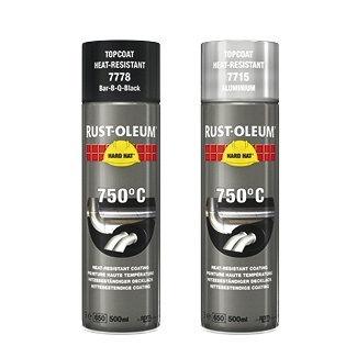 RUSTOLEUM HIGH TEMPERATURE BLACK SRAY PAINT - 500ML