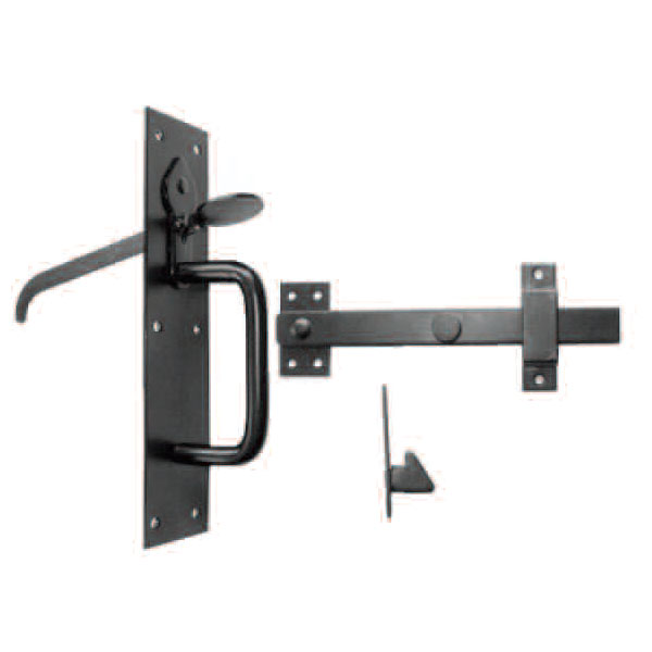 SUFFOLK LATCH MEDIUM PATTERN BLACK