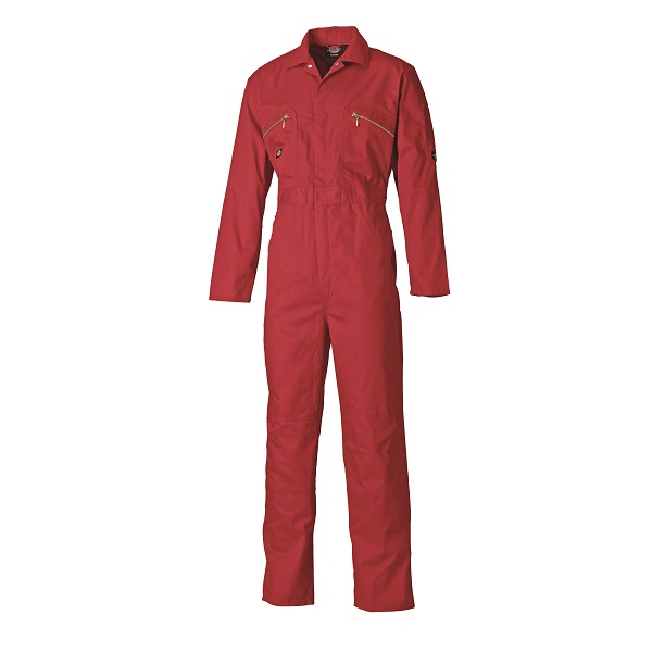 DICKIES 46 CHEST WD4839 RED ZIP COVERALL LONG