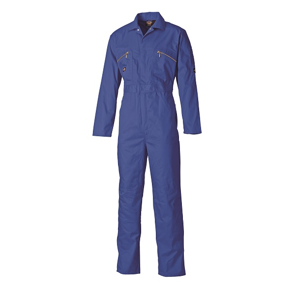 DICKIES 38 CHEST WD4839 ROYAL ZIP COVERALL LONG