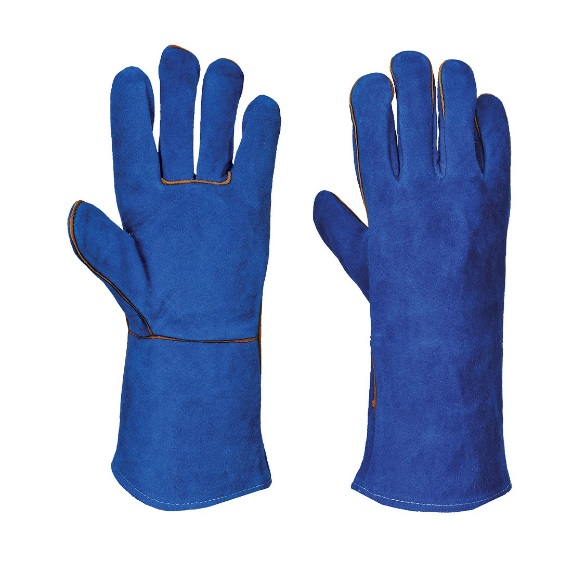 PORTWEST A510 BLUE WELDERS GAUNTLETS XL