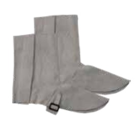 CHROME LEATHER LEG GAITERS - PAIR