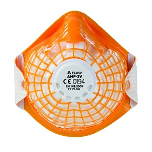ALPHAFLOW FFP3 MOULDED RESPIRATOR ORANGE