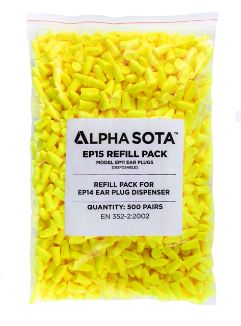 ALPHA SOLWAY EP15 REPLACEMENT EAR PLUGS 500 PAIRS