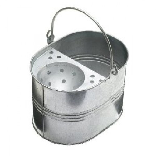 LARGE GALVANISED BUCKET - 10 LITRES