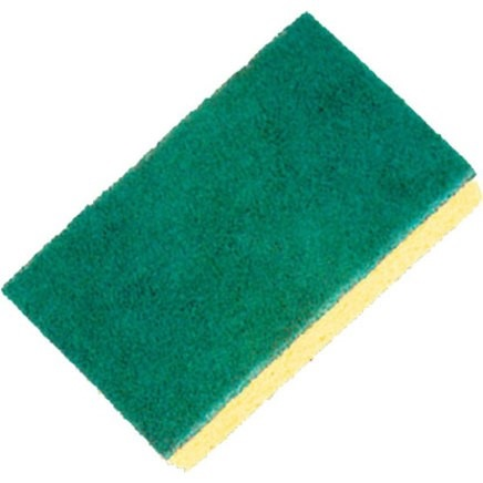 SPONGE SCOURING PADS - 147MM X 90 MM - 10 PACK