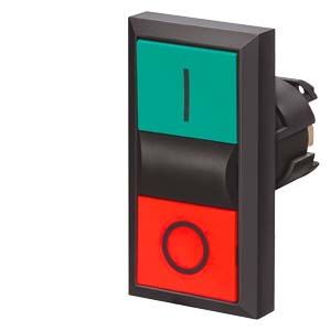 SIEMENS 3SB3100-8AC21 GREEN/RED DOUBLE PUSHBUTTON