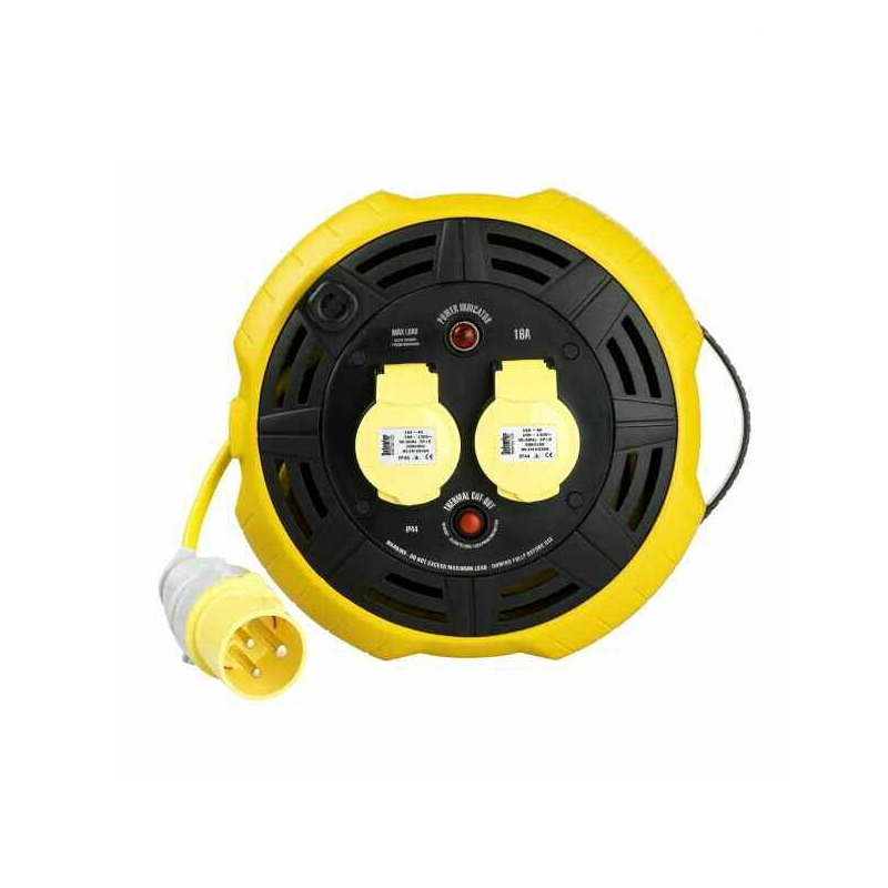 Defender E86530 (cassette Reel) 15m 2 Outlet With 1.5mm 3 Core Cable 110v 16a Cable Reel