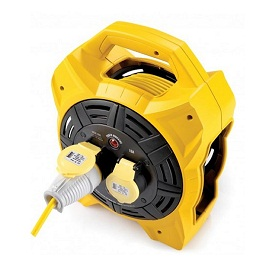 Defender E86540 (box Reel) 20m 2 Outlet With 1.5mm 3 Core Cable 110v 16a Cable Reel