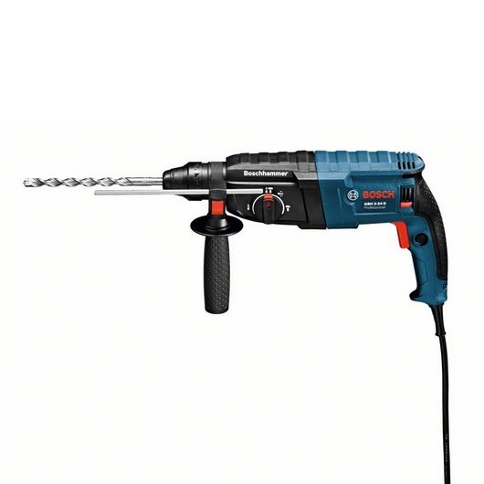 Bosch Gbh2-24 Sds+ Rotary Hammer Drill c/w 8pc Sds+ Drill & chisel/point Set