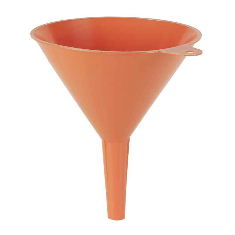 "PRESSOL 10"" ORANGE PLASTIC FUNNEL 02-367"