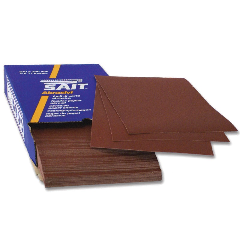 ALUMINIUM OXIDE PAPER SHEET 240 GRIT  AR-C 230MM X 280MM  68257 FOR WOOD/PAINT/PLASTICS (GARNET STYLE)