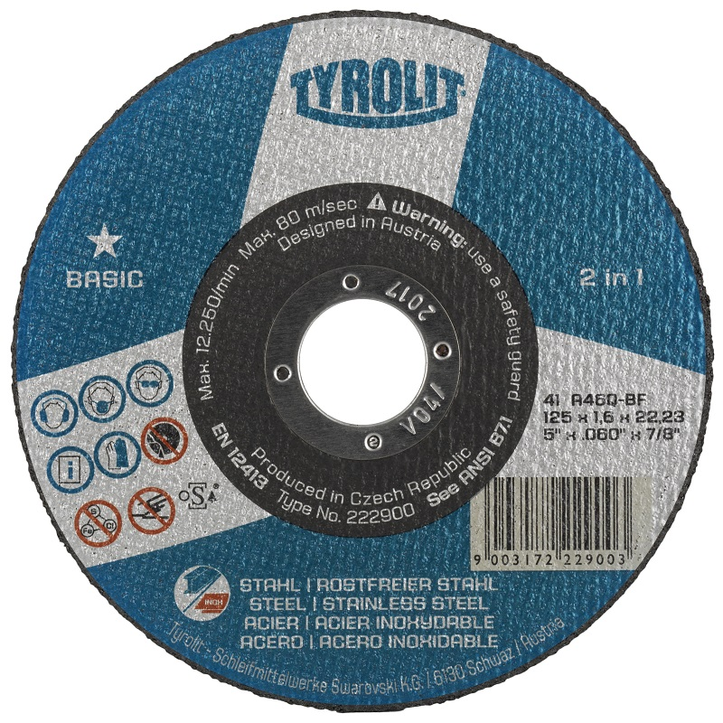 TYROLIT DPC 2-IN-1 BASIC METAL CUTTING/GRINDING DISCS