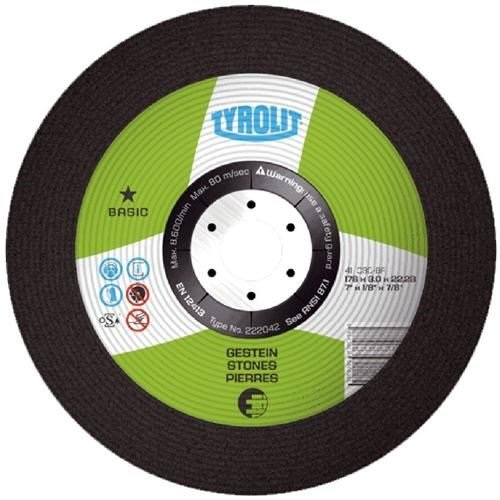 TYROLIT 115MM X 2.5MM DPC STONE CUTTING DISC 1 STAR BASIC 223025