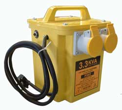 Portable Power Tool Transformer, Twin Outlet