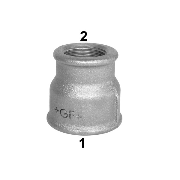 GF CONCENTRIC REDUCING SOCKET - GALVANSIED MALLEABLE