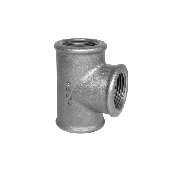 GF SQUARE EQUAL TEE FEMALE -  GALVANISED MALLEABLE