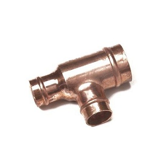 Reduced End And Branch Tee Solder Ring Fitting Co27
