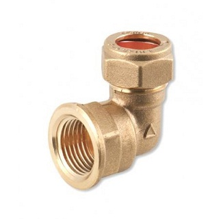 C X FI ELBOW BRASS COMPRESSION FITTINGS
