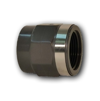 GF UPVC PLAIN THREADED SOCKET
