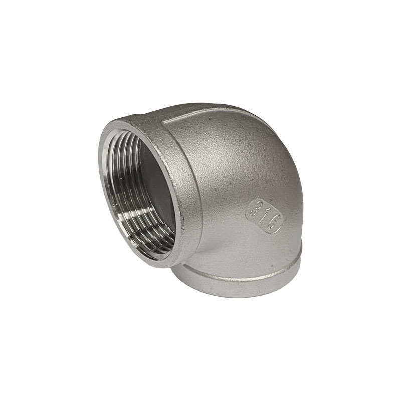 STAINLESS STEEL 90 DEGREE SCREWED ELBOW