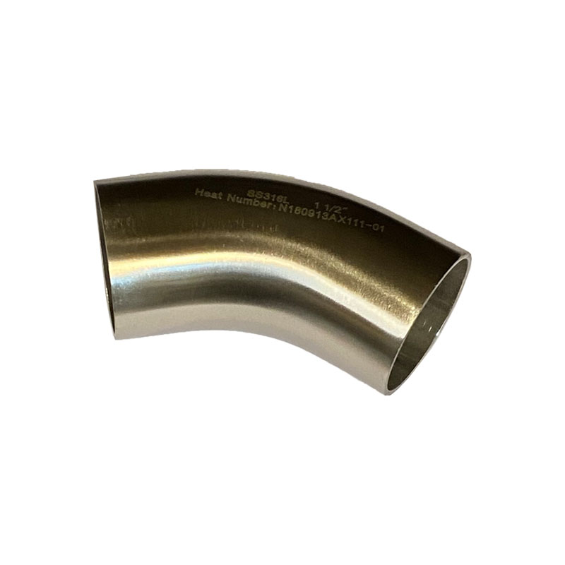 STAINLESS STEEL HYGIENIC 45 DEGREE BEND