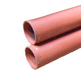 Red Medium Tube, Plain Ended, Dual Certified - en10255/en10217