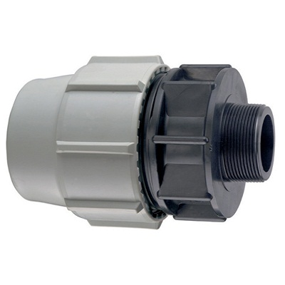 "25MM X 1"" BSP PLASSON 7020 MALE COUPLING"